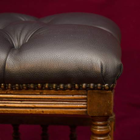 Good Quality Late Victorian Music Stool image-5