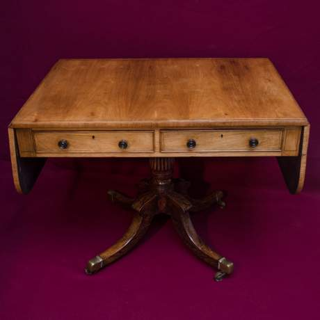 Fine Quality Regency Period Rosewood Sofa Table image-1