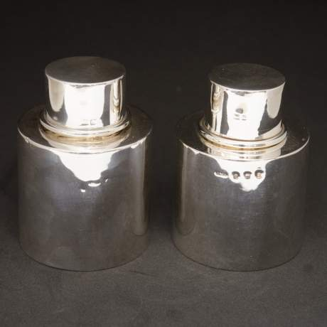 Pair of Silver Tea Caddies image-1