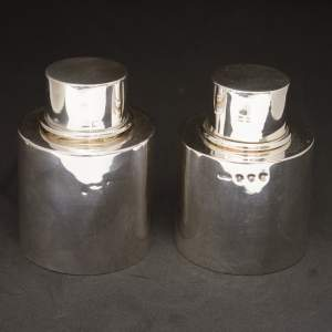 Pair of Silver Tea Caddies