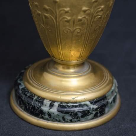 Pair of Neo Classical Gilt Bronze Vases image-3