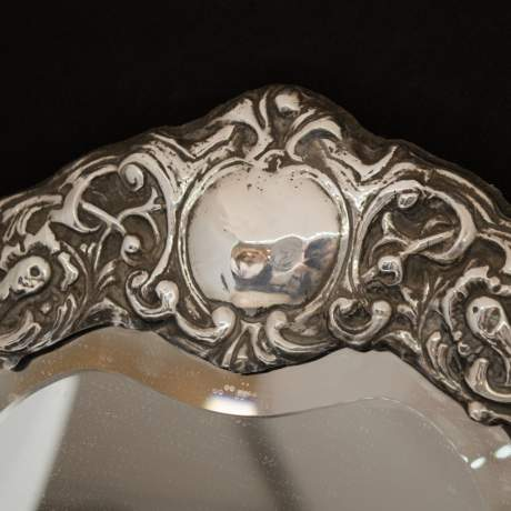 Large Heart Shaped Silver Mirror image-5