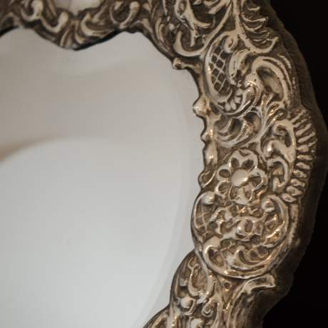 Large Heart Shaped Silver Mirror image-6