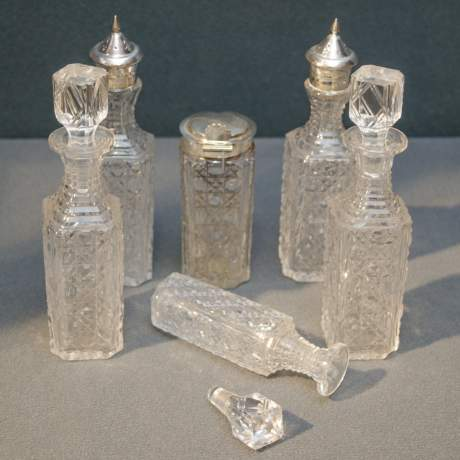 Victorian Six Bottle Silver Plated Cruet Set image-5