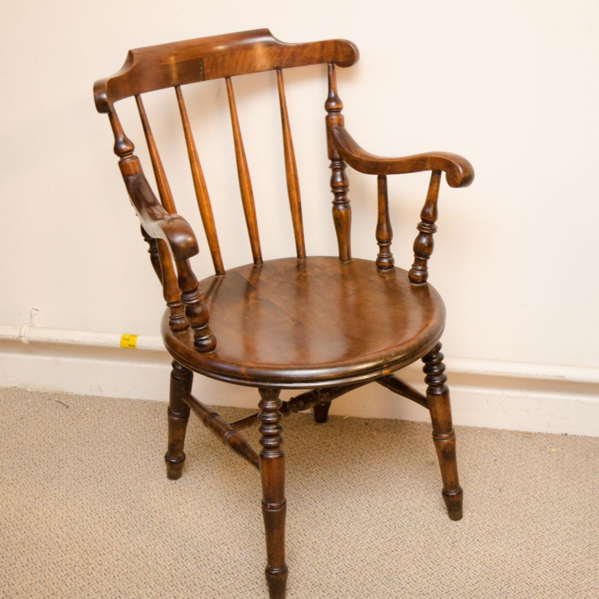 Victorian Penny Seat Kitchen Armchair