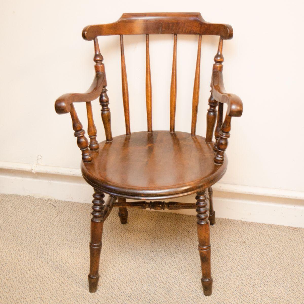 Kitchen Armchairs: Victorian Penny Seat Kitchen Armchair