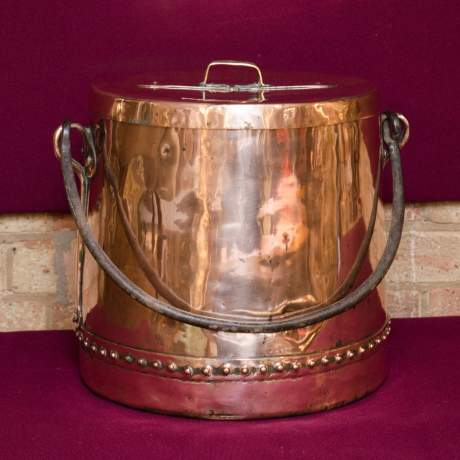 Arts and Crafts Copper Cauldron image-1