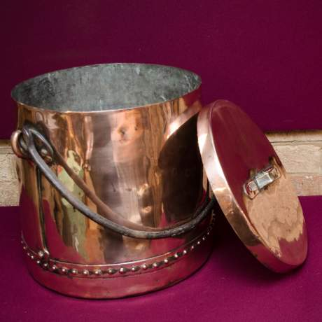 Arts and Crafts Copper Cauldron image-3