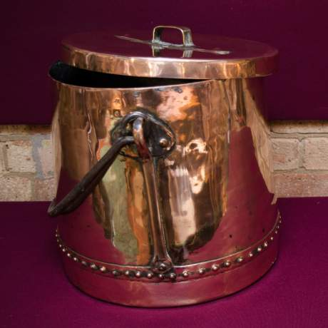 Arts and Crafts Copper Cauldron image-4