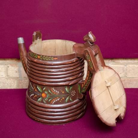 19th Century Swedish Wooden Drinking Vessel image-5