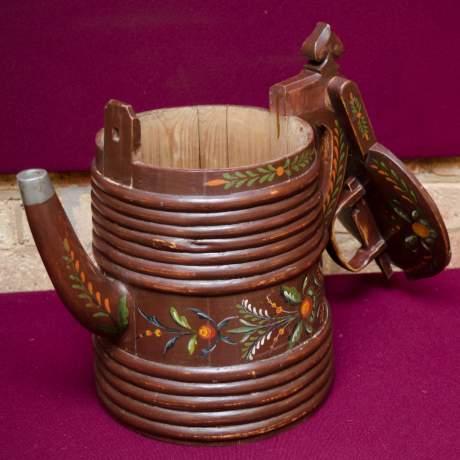 19th Century Swedish Wooden Drinking Vessel image-6