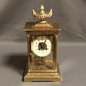 Good Quality French Four Glass Mantel Clock