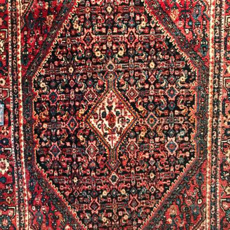 Old Hand Knotted Persian Rug  Senneh image-1