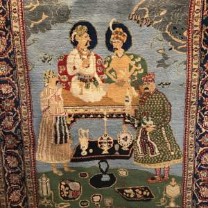Hand Knotted Bokhara Pictorial Rug