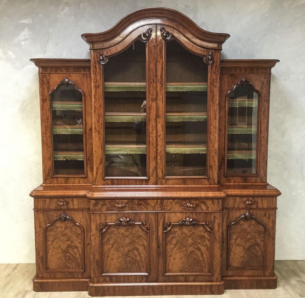 Victorian Mahogany Library Bookcase