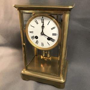 French Four Glass 8-Day Mantel Clock