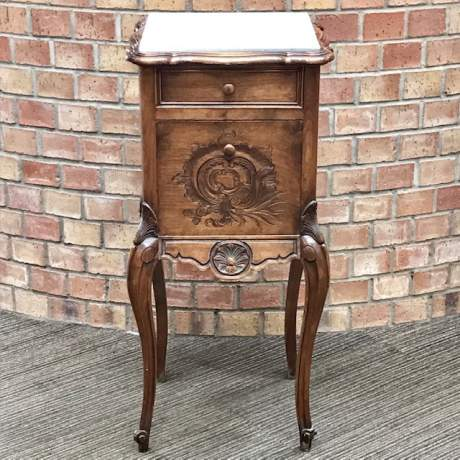Late 19th Century French Walnut Bedside Cabinet image-1