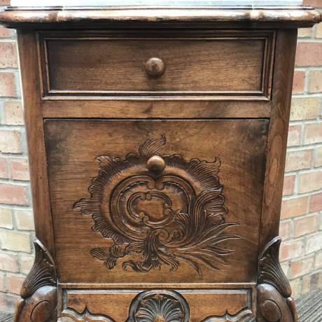 Late 19th Century French Walnut Bedside Cabinet image-4