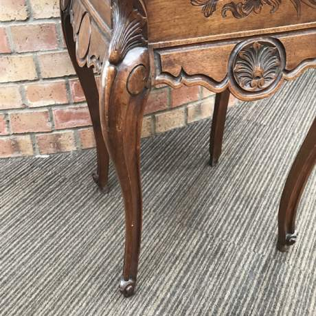 Late 19th Century French Walnut Bedside Cabinet image-5