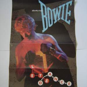 David Bowie Lets Dance 1983 Original Rare UK Poster