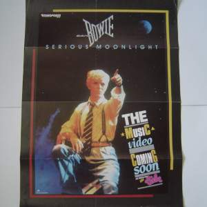 David Bowie Serious Moonlight Original UK Record Company Poster