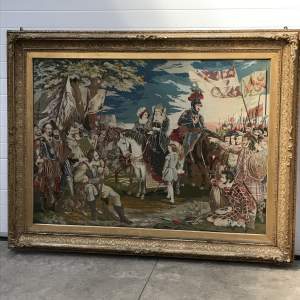 Large and Impressive 19th Century Embroidered Tapestry of Mary Queen of Scots