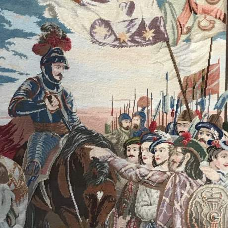 Large and Impressive 19th Century Embroidered Tapestry of Mary Queen of Scots image-3