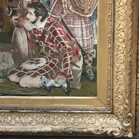 Large and Impressive 19th Century Embroidered Tapestry of Mary Queen of Scots image-4