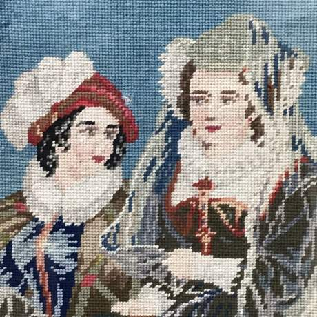 Large and Impressive 19th Century Embroidered Tapestry of Mary Queen of Scots image-5