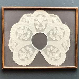 Vintage Framed Lace Collar