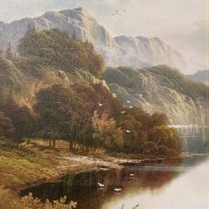 Original Oil on Canvas Scene of The River Wye