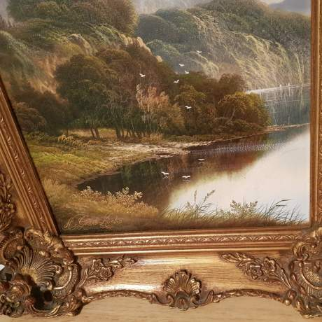 Original Oil on Canvas Scene of The River Wye image-2