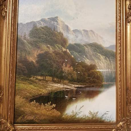 Original Oil on Canvas Scene of The River Wye image-3