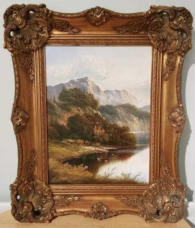 Original Oil on Canvas Scene of The River Wye image-4