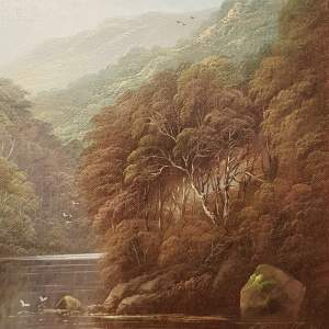Original Oil on Canvas Scene of Autumn Tints Along The River Wye