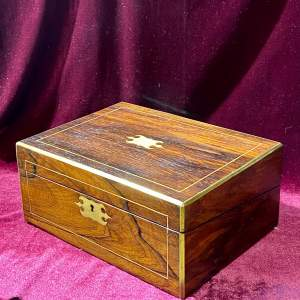 Late 19th Century Rosewood Writing Slope