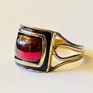 Antique Gold and Garnet Ring
