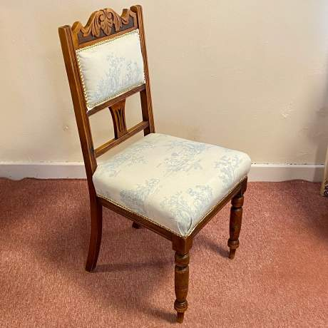 Set of 4 Edwardian Toile de Jouy Dining Chairs image-4