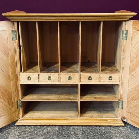Victorian Scumbled Pine Cabinet image-3