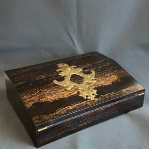 Victorian Coromandel Wood Lap Desk