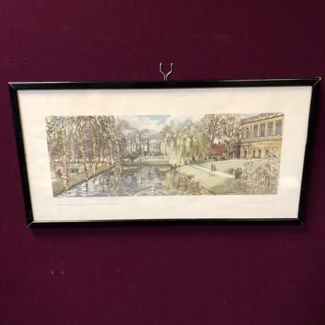 St Johns College From Trinity Bridge Railway Carriage Print image-1