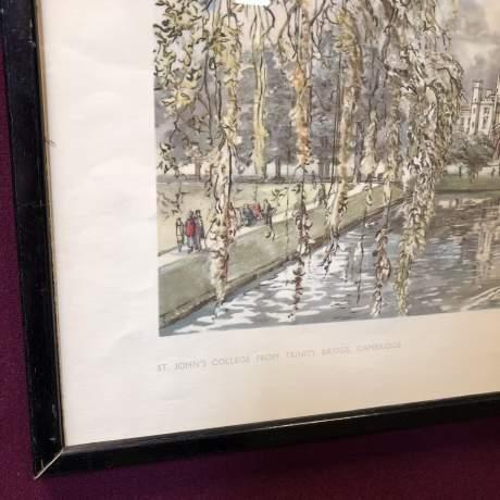 St Johns College From Trinity Bridge Railway Carriage Print image-2