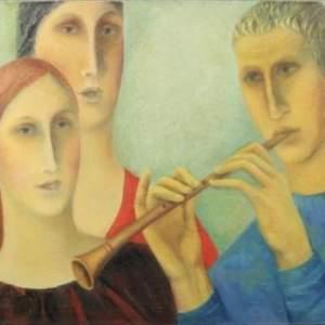 Larisa Davatz Original Oil Painting  of The Song