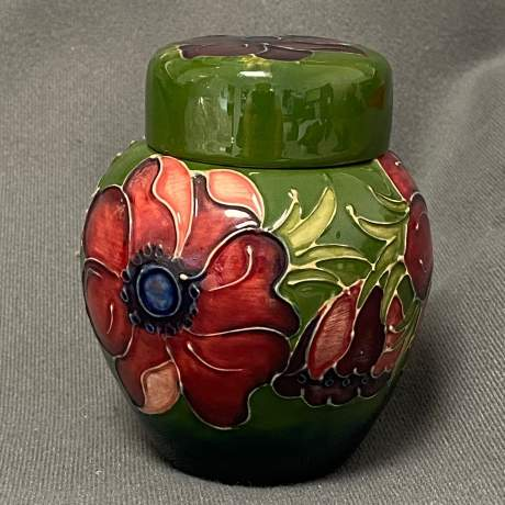 William Moorcroft Anemone Ginger Jar image-2