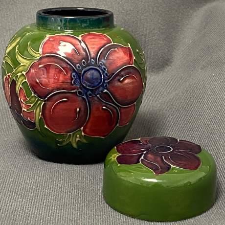 William Moorcroft Anemone Ginger Jar image-3