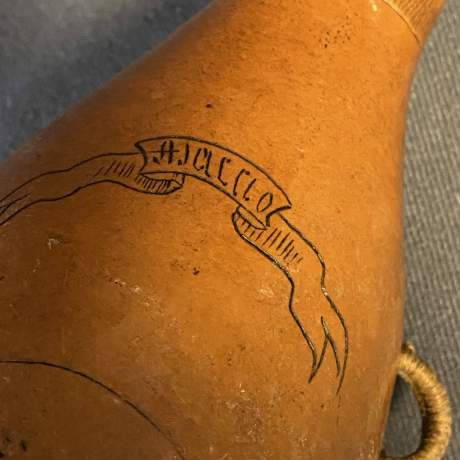 Rare and Interesting Gourd with Engraving of Napoleon Boneparte image-4