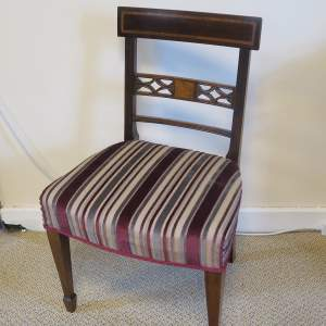 Regency Period  Mahogany Side Chair