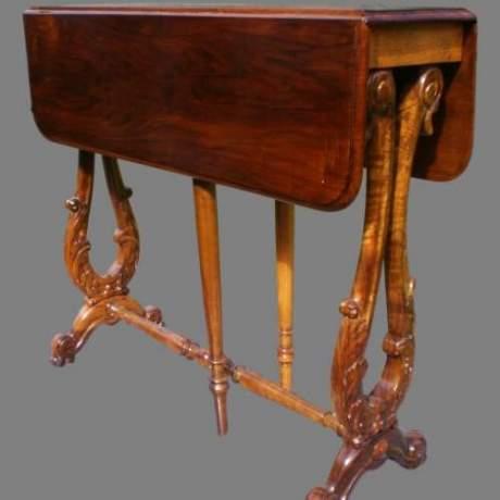 19th Century Walnut Sutherland Table image-1