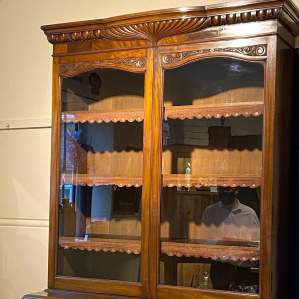 Large Victorian Mahogany Cupboard Bookcase