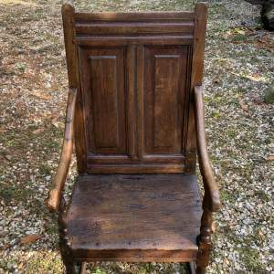 A Stunning Mid 17th Century Northern English Wainscot Armchair